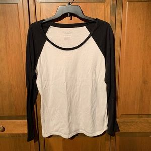 Black and White Baseball Tee